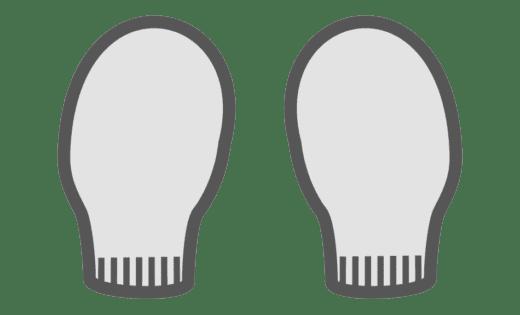 Binamed Zilver Baby Handschoenen