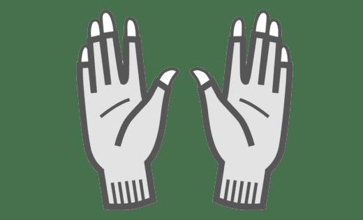 Binamed Zilver Handschoenen vingerloos