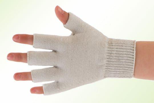 Binamed Zilver Kind handschoenen vingerloos