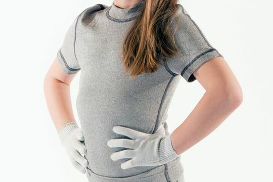 Binamed Zilver Kinder Shirt Korte Mouw